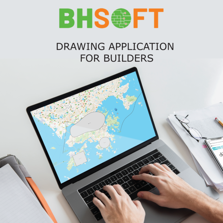 BHSOFT drawing application for builders leafletjs